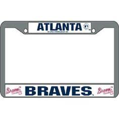 Atlanta Braves Mlb Chrome License Plate Frame