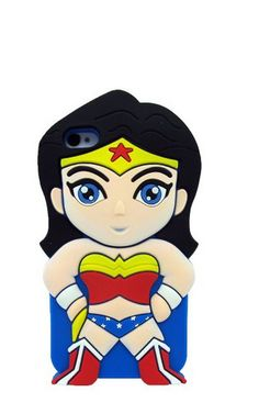 iPod Touch 5 - Wonder Woman Cartoon Silicone Rubber Case
