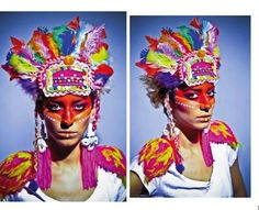 The Ailin Bisi AW12 Collection is Filled with Trippy Accessories #feathers #fashion trendhunter.com