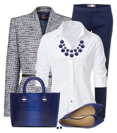 """""""Navy Flats"""" by daiscat ❤ liked on Polyvore featuring MANGO, MSGM, Steffen Schraut, Joe's Jeans, Victoria Beckham, Apt. 9 and Blue Nile"""
