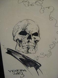 Mark Texeria Ghost Rider Sketch Comic Art