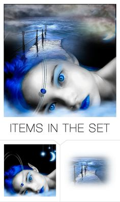 """""""Blue Monday"""" by lubime ❤ liked on Polyvore featuring art"""