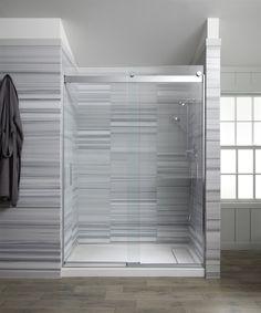 KOHLER Levity 56.625-in to 59.625-in W x 74-in H Frameless Sliding Shower Door | Lowe's Canada