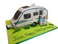 Caravan cake. Birthday retirement bon voyage https://www.facebook.com/karenscakesandart