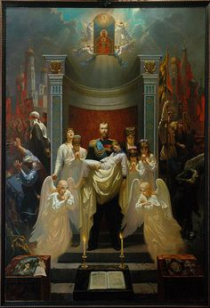 """The downfall of the Empire"". Our Lady Derzhavnaya (""The Sovereign"", ""The Reigning"") Icon reappeared in Russian history. La Familia Romanov, Zar Nikolaus Ii, February Revolution, Bolshevik Revolution, House Of Romanov, Alexandra Feodorovna, Russian Culture, Russian Orthodox, Noblesse"
