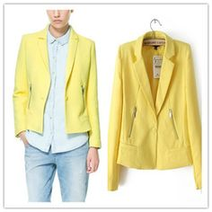 Only Short Blazer Women Yellow Discount From China FaHOw9rikr