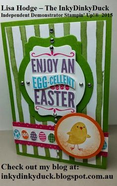 The InkyDinkyDuck: Egg-cellent Easter http://inkydinkyduck.blogspot.com.au/ http://www.stampinup.net/esuite/home/inkydinkyduck/ For Peeps' Sake, Easter, circle punch, dotted scallop ribbon border punch, Big Shot, Deco Labels framelits, Bitty Banners framellits, many marvellous markers, Painted Blooms designer series paper, Weekly deals, Sale-A-Bration, Occasions Catalogue, Australia, Stampin' Up!, Cameron Park, NSW, 2285, Lake Macquarie, Newcastle, Maitland