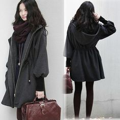 I found '2013 NEW WINTER ELEGANT HOODED ZIPPER ELASTIC CUFFS COAT WITH LACING WF-4378' on Wish, check it out!