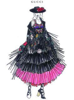 Les costumes de scene Gucci par Alessandro Michele de Madonna pour sa tournée Rebel Heart. #Madonna #Gucci #AlessandroMichele