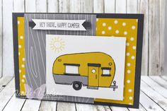 http://nicolejuliewilson.blogspot.com.au/ Glamper Greetings - The Artful Stampers Blog hop challenge 110 - crushed curry, whisper white, smokey slate and basic gray ( grey) www.facecbook.com/NicoleWilsonStamp #stampinup