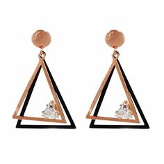 More Rose Gold Drop Earrings Rose Gold Drop Earrings, Crystal Earrings, Gold Everything, Crystal Rose, Rose Gold Color, Fashion Earrings, Triangle, Amazon Products, Free Shipping