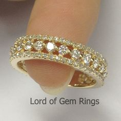Brilliant 1.10ct Diamond Ring in Solid 14k Yellow Gold por TheLOGR