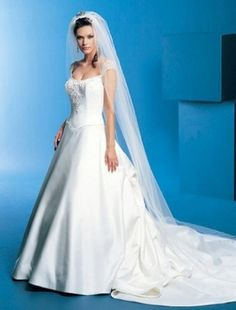 A-line Scoop Chapel Train Capped Satin Plus Size Cheap Discount Wedding Dress For Brides Gowns