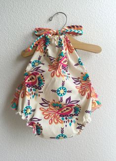 Love Bird Baby Girl Romper by ALittleArrow on Etsy