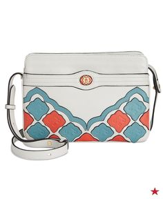 fa4ca170cb43e8 Spice up your vacay wardrobe with this Nanette Lepore crossbody. Love the  colors and the