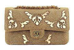 Golden embroidered tweed bag with a CC lock~Sac dor en tweed brod avec fermoir CC picture | Chanel
