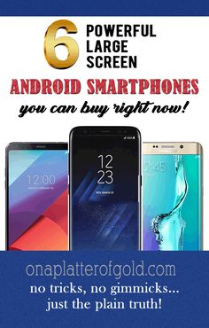 Best Android Smartphones With Large Screen Display You Can Get Right Now