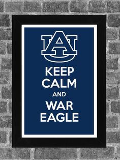 Keep Calm Auburn Tigers NCAA Print Art 11x17
