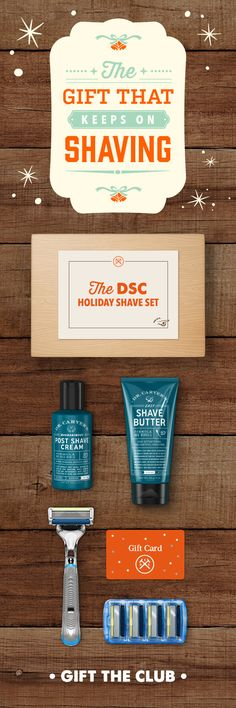 The Dollar Shave Club Holiday Shave Set. Gift The Club Now.