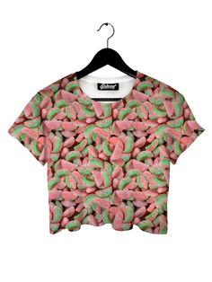 Sour Watermelon Crop Tee from Beloved Shirts