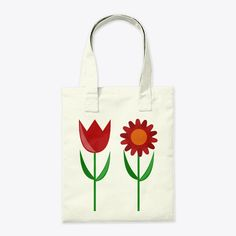 Discover Red Tulip And Daisy Bag T-Shirt from Yphora Shop, a custom product made just for you by Teespring. - Cute red tulip and daisy tote bag. Red Tulips, Canvas Tote Bags, Daisy, Reusable Tote Bags, Cute, Shopping, Margarita Flower, Kawaii, Daisies