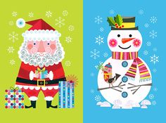 This beautiful set of 8 Christmas card designs are just few of the latest illustrations Ellen Giggenbach  has created for Templar Publishi...