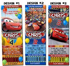Disney Pixar Cars Lightning McQueen Birthday Party by funinvitez, $9.99