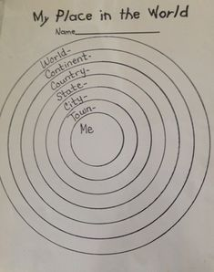 Second Grade Map Project Ideas: Have students fill this worksheet out before completing the me on the map activity.