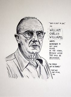 William Carlos Williams Poster Print by StandardDesigns on Etsy