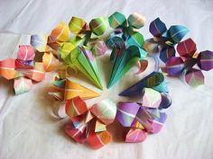 12 Large Japanese Origami Irises - origami flowers made to order, paper flowers for table favors, gifts, party favors