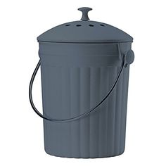 Slate Grey Eco Compost Caddy - Composting Bin for Food Waste Recycling