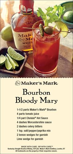Spicy and savory, this satisfying riff on the Bloody Mary features a feast of ingredients that gives this cocktail well-… Party Drinks, Fun Drinks, Alcoholic Drinks, Beverages, Mixed Drinks, Bourbon Cocktails, Cocktail Drinks, Cocktail Recipes, Dinner Recipes