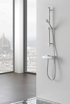 Shower column with hand shower Qubic Collection by Graff Europe West