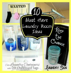 10 Must have laundry room ideas sewlicioushomedecor.com