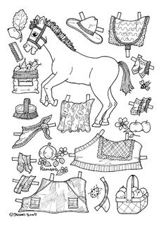 Pony Paper Dolls 33 Kids Printables Coloring Pages