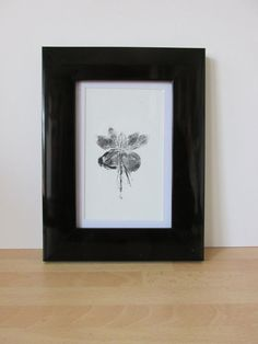 Pressed Flower Print  Fuchsia by HelenJTaylorPrints on Etsy