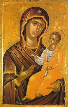 The Mother of God, Theophanes - Damascene Gallery Icon and Church Supply