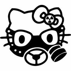 Gas mask hello kitty