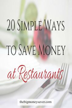 These tips are great! Now I can afford to eat out at my favorite restaurants. Make it happen by following these 20 simple ways to save money at restaurants.