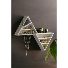 Twin Peaks Shelf ($49) ❤ liked on Polyvore featuring home, home decor, small item storage, white and white home decor