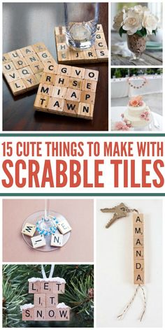 15 Awesome Uses for Scrabble Tiles (Besides Playing the Game) Scrabble is one of my favorite board games, and I've ended up with several boards. Even better, I found some amazing uses for Scrabble tiles. Scrabble Letter Crafts, Scrabble Art, Scrabble Coasters, Scrabble Ornaments Diy, Crafts With Scrabble Tiles, Scrabble Pieces Crafts, Craft Letters, Crafts To Make, Fun Crafts