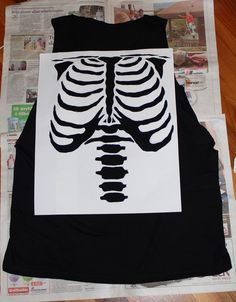 DIY Skeleton Shirt