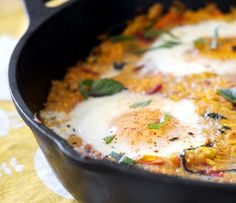 Summer Squash with Baked Eggs