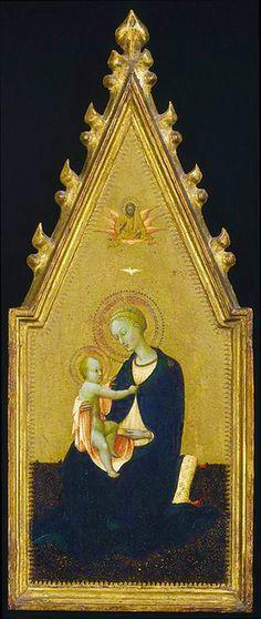 Sassetta (Stefano di Giovanni), Madonna of Humility c. 1435/1440 tempera on pane