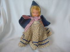 "NASB NANCY ANN Storybook Doll #170 Rain Rain Go Away ~ 5-1/2"" Bisque Doll Stiff Legs by PastPossessionsOnly on Etsy"