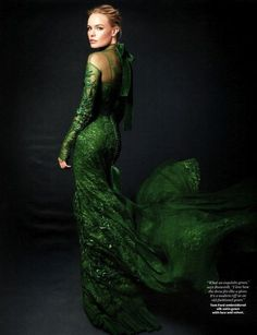 tom ford evening gowns | ... Bosworth and Tom Ford Fall 2011 RTW Emerald Evening Dress Photograph