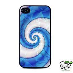 Abstract Blue Swirl Liquid iPhone SE Case