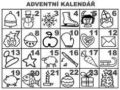 Adventni kalendar Christmas Activities For Kids, Preschool Christmas, All Things Christmas, Christmas Time, Xmas, Christmas Cookie Icing, Pusheen, Kids Education, Advent Calendar