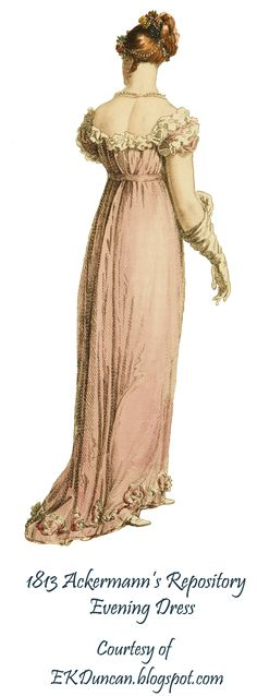 EKDuncan - My Fanciful Muse: Regency Ladies with a Curtain View - using images from Ackermann's Repository