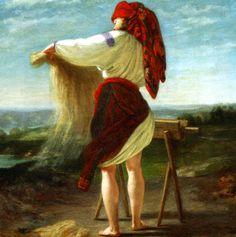 "Henryk Rodakowski ""Peasant Woman"", 1859, oil on canvas"